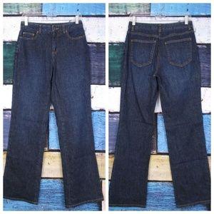 Talbots Super Dark Indigo Wash Stretch Boot Jeans
